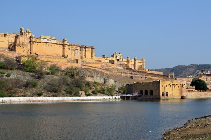 Maota bursztynu i jeziora fort lub pałac, nr Jaipur, Wewnątrz fotografia stock