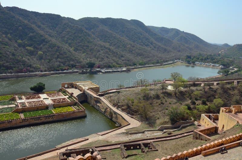 Maota See, Amber Fort oder Palast, nr Jaipur, Indien stockfotos