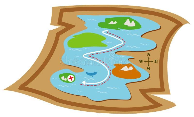 Map stock illustration