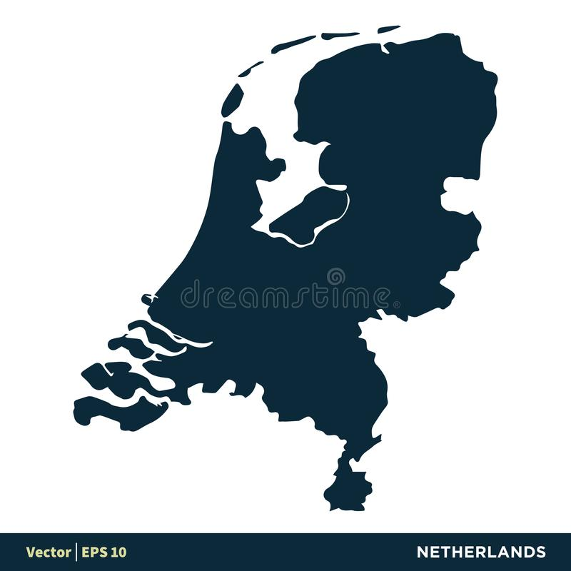 Netherlands - Europe Countries Map Vector Icon Template Illustration Design. Vector EPS 10. Netherlands - Europe Countries Map Vector Icon Template Illustration royalty free illustration