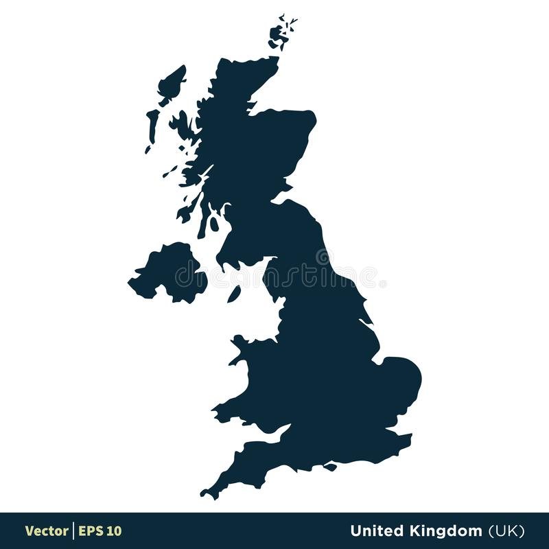 United Kingdom UK - Europe Countries Map Vector Icon Template Illustration Design. Vector EPS 10. stock illustration