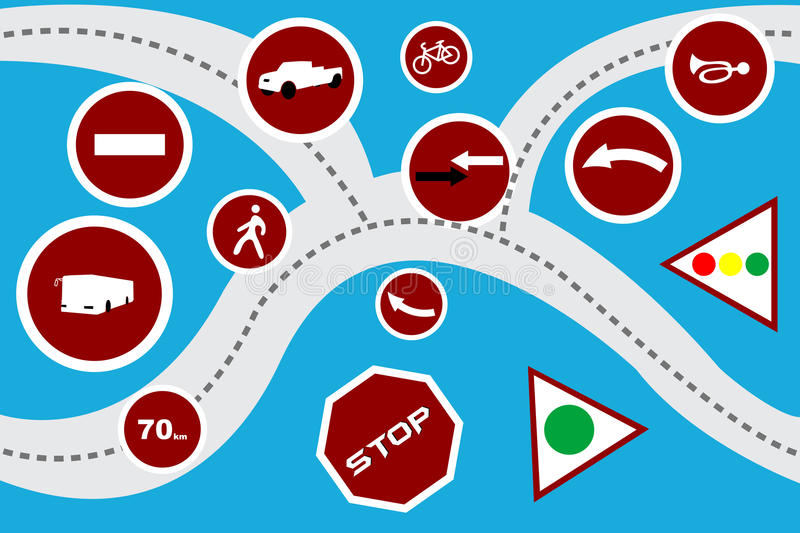 Download Map stock vector. Image of icon, drive, road, abstract - 17558253
