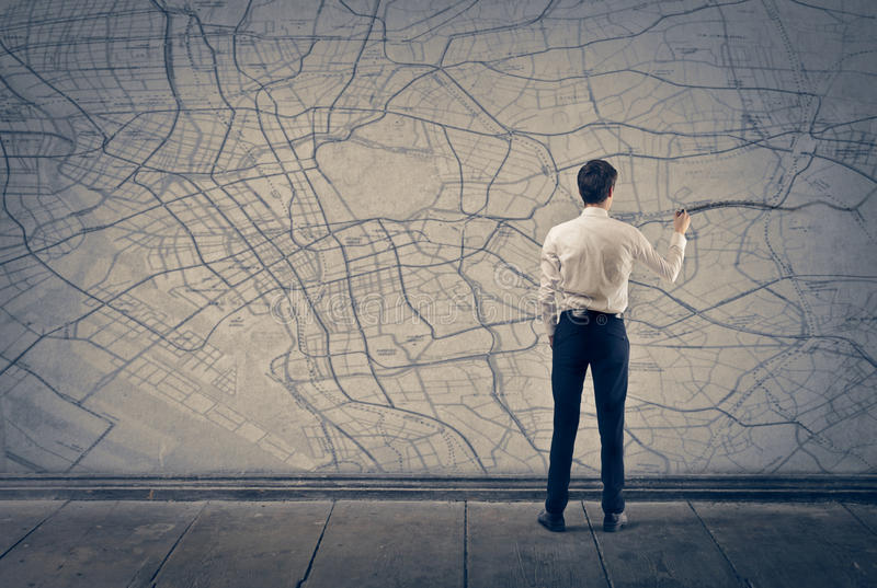 Download Map stock image. Image of indoor, direction, write, concept - 29231897