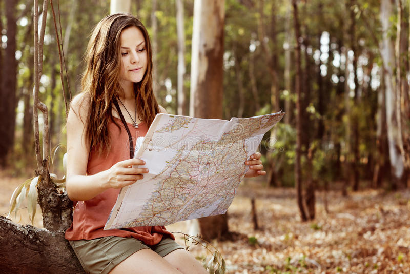 Map Adventure Destination Navigation Route Trip Concept royalty free stock photo