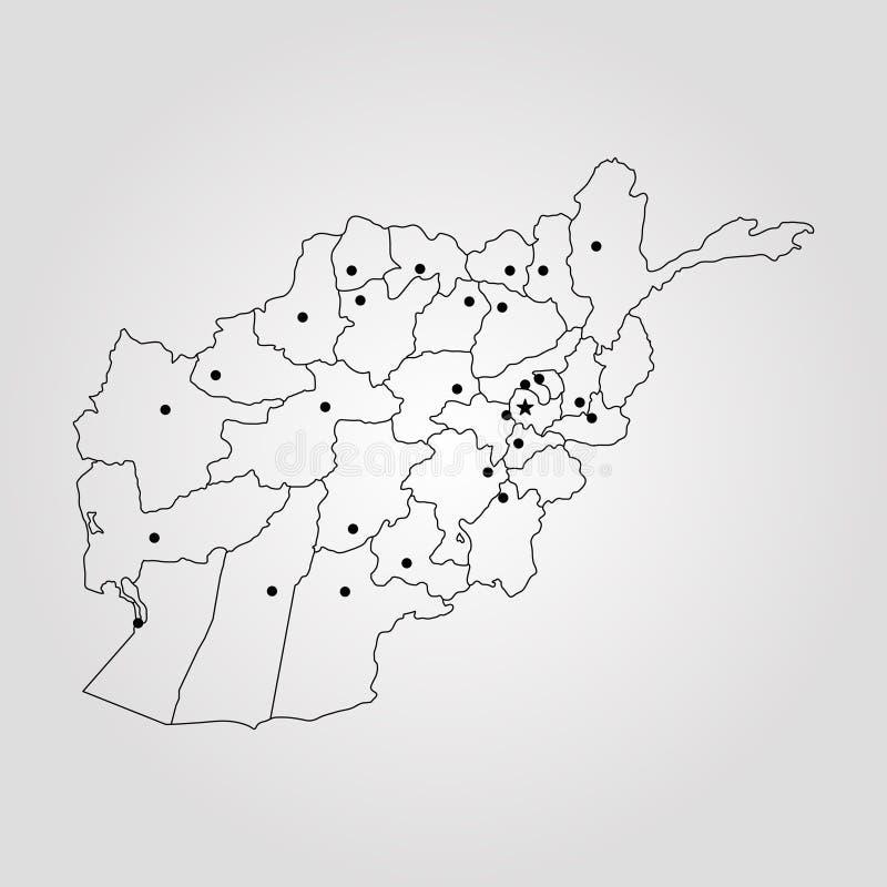 download map of afghanistan stock illustration illustration of asia 103891370