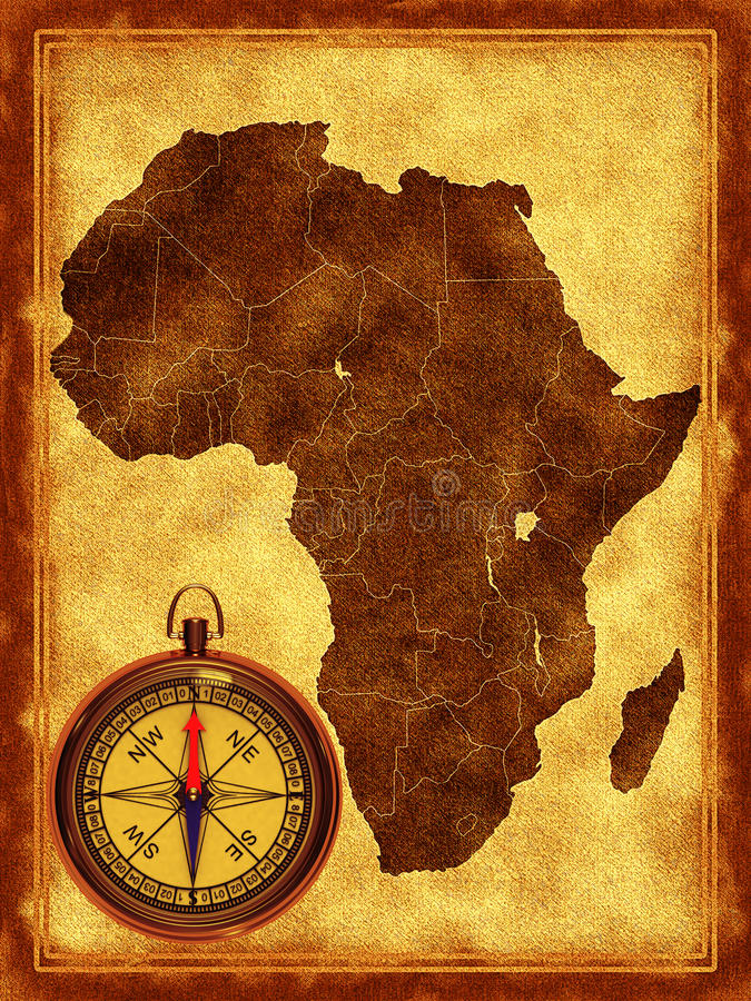 Download Map of Africa stock illustration. Image of north, west - 20285649