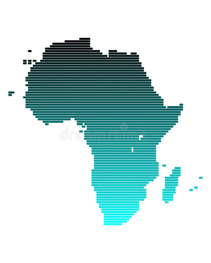 Download Map of Africa stock vector. Image of vector, line, gradient - 6756823