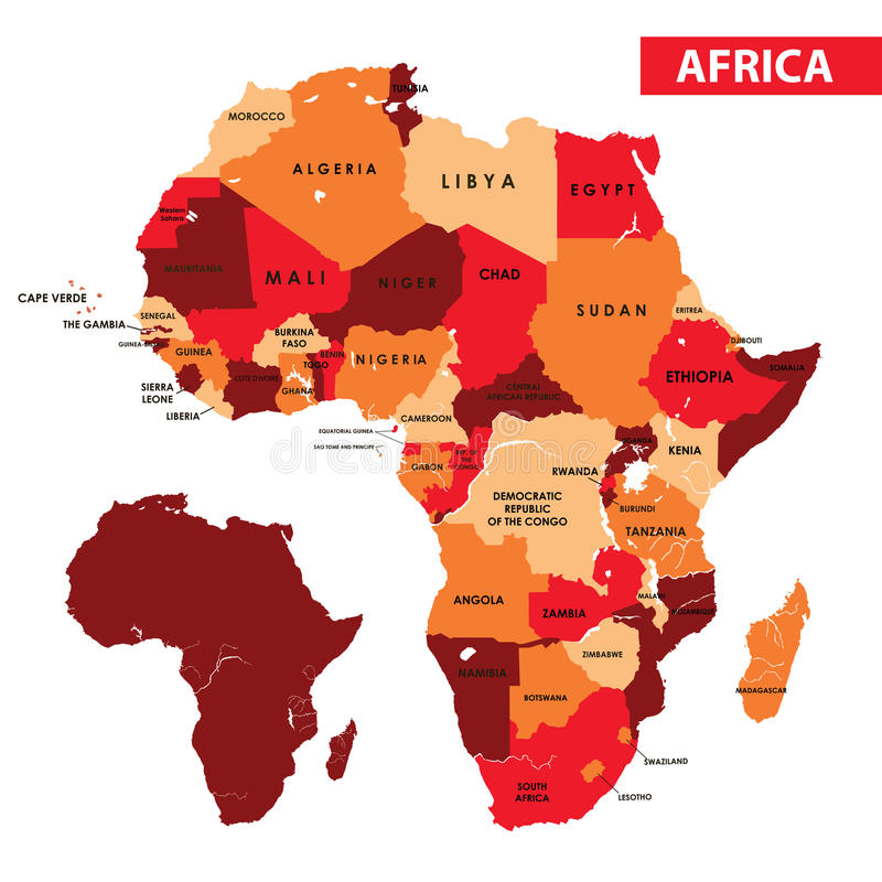 Map of Africa. Vector illustration Map of Africa country royalty free illustration