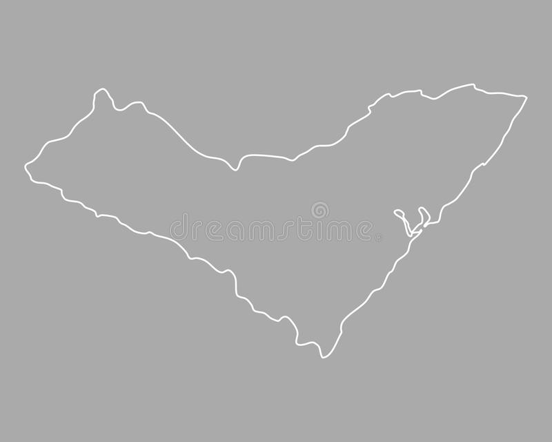 Map of Alagoas. Detailed and accurate illustration of map of Alagoas royalty free illustration