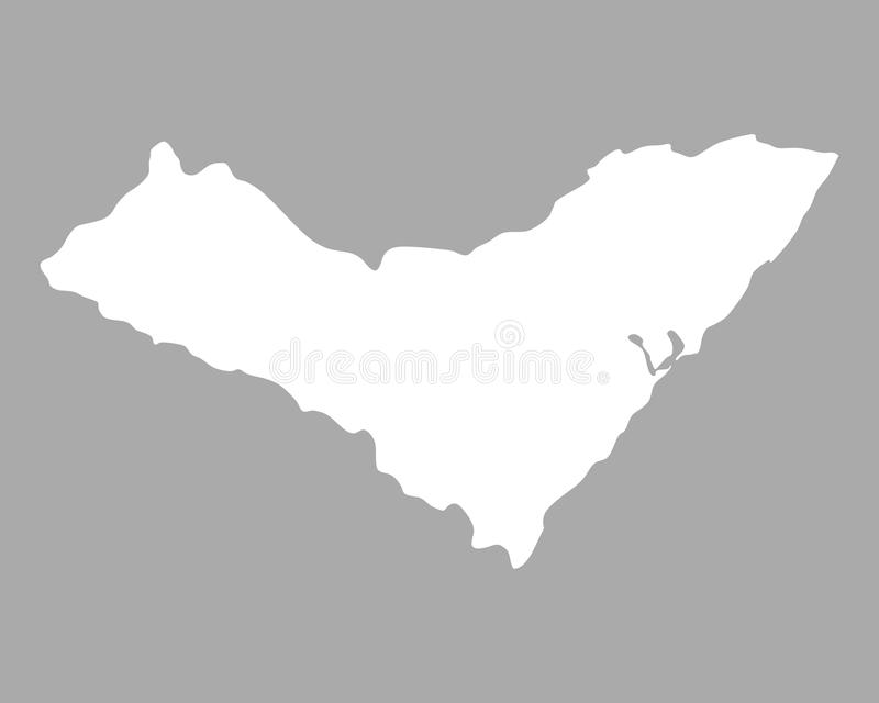 Map of Alagoas. Detailed and accurate illustration of map of Alagoas stock illustration