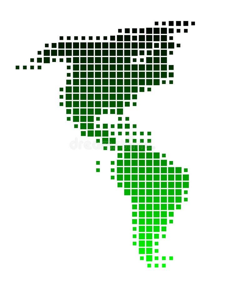 Map of America vector illustration