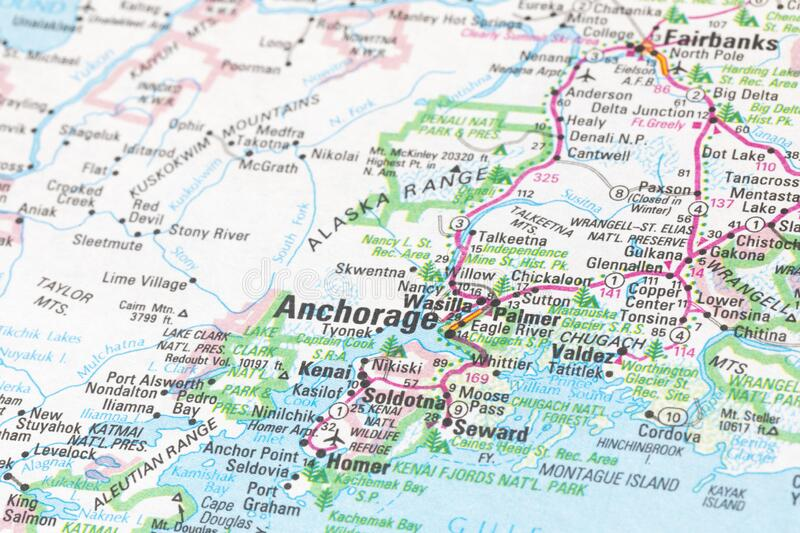 Map Anchorage Alaska Photos Free Royalty Free Stock Photos From Dreamstime
