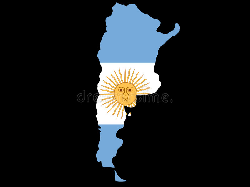 Download Map of Argentina stock vector. Image of silhouette, realm - 2185574