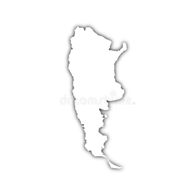 Map Of Argentina With Shadow Stock Illustration Image - Argentina map black and white