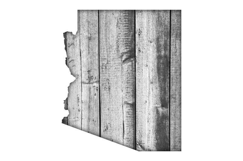 Map of Arizona on weathered wood. Detailed and colorful image of map of Arizona on weathered wood stock photos