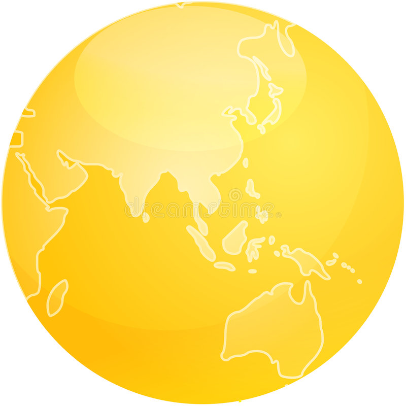 Map of Asia sphere vector illustration