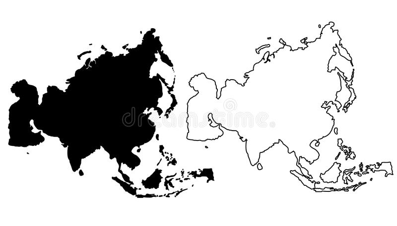 Map of asia vector illustration stock vector illustration of download map of asia vector illustration stock vector illustration of drawing background gumiabroncs Images