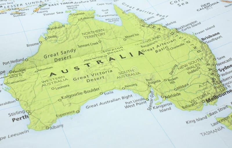 Map of Australia stock image