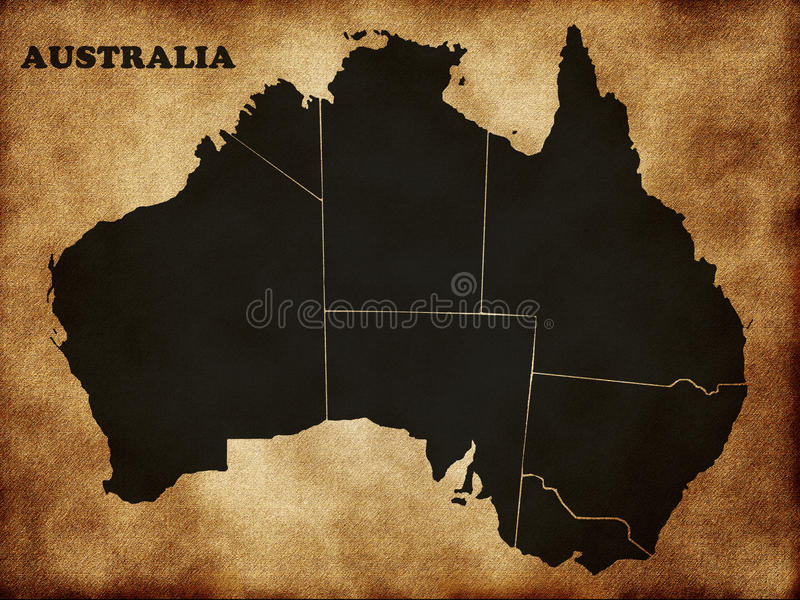 Download Map of Australia stock illustration. Image of coast, coastline - 23144786