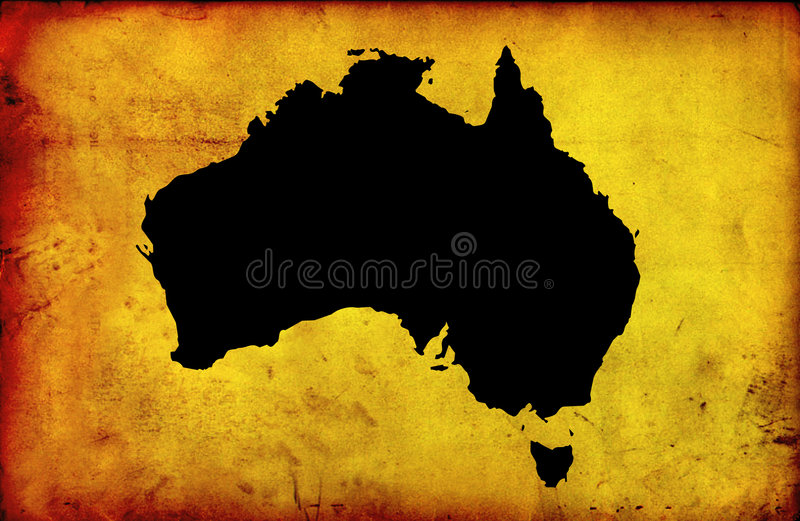 Map of australia royalty free stock image