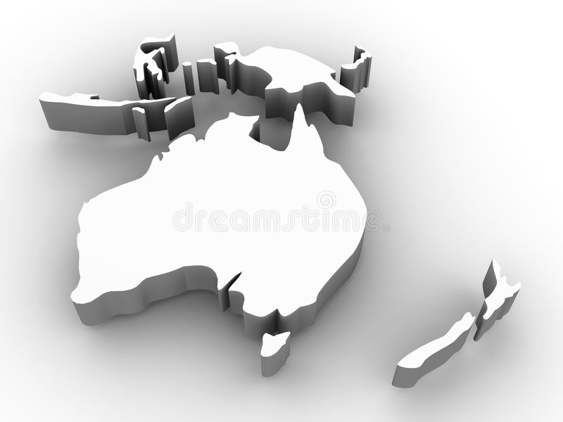 Download Map of Australia stock illustration. Image of planet, cartography - 6525526