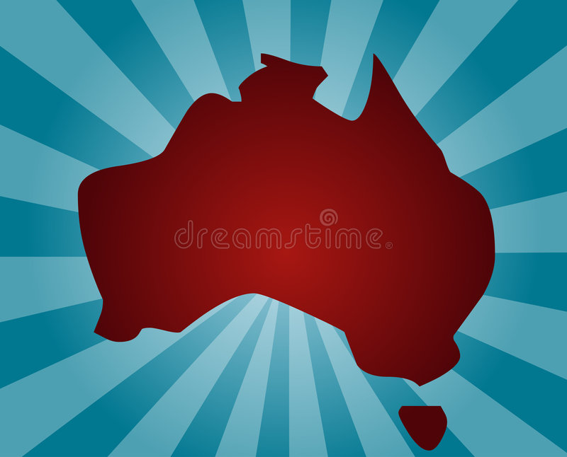 Download Map of Australia stock vector. Image of outline, detail - 7417780