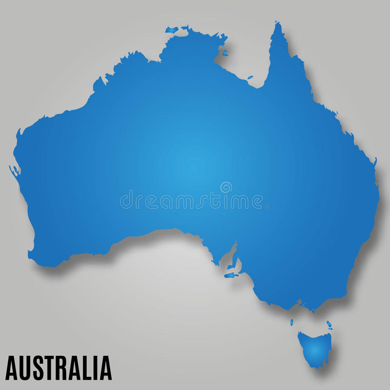 Map of Australia continent country vector illustration