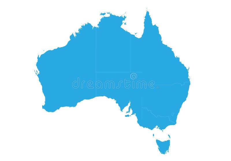 Map of australia. High detailed vector map - australia. stock illustration