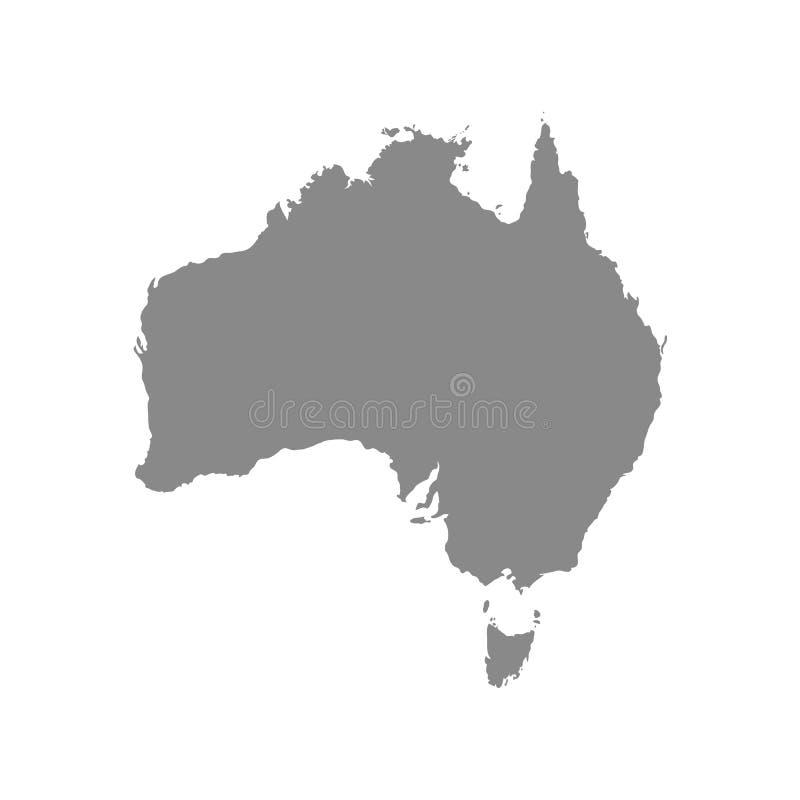Map of Australia vector illustration stock illustration