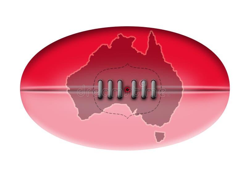 map australijskie futbolowe reguły ilustracji