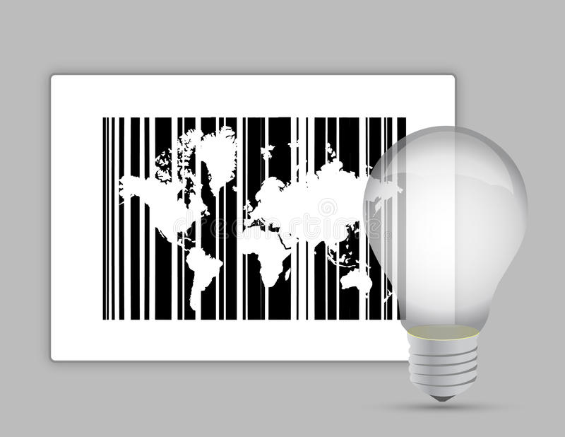 Download Map barcode and lightbulb stock illustration. Image of lightbulb - 28052957