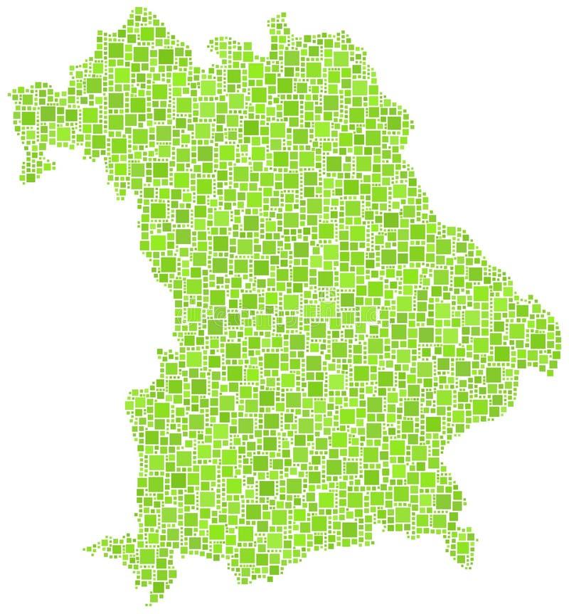 Map Of Bavaria - German - Stock Photography