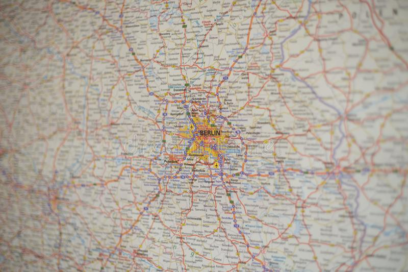 Map of berlin royalty free stock images