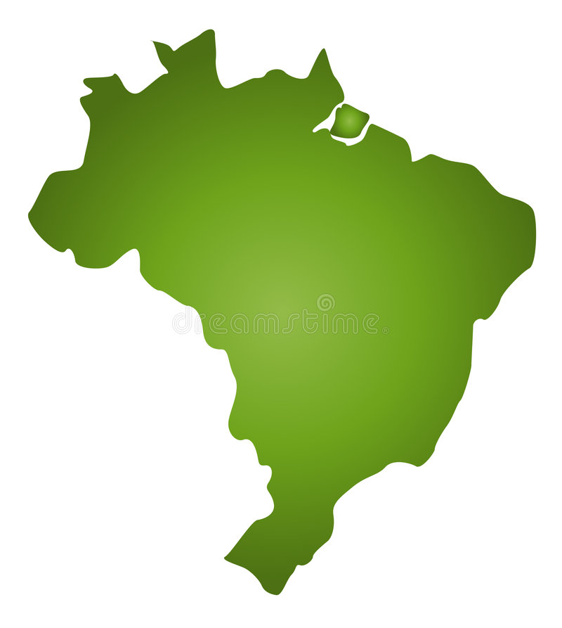 Map Brazil Stock Photos