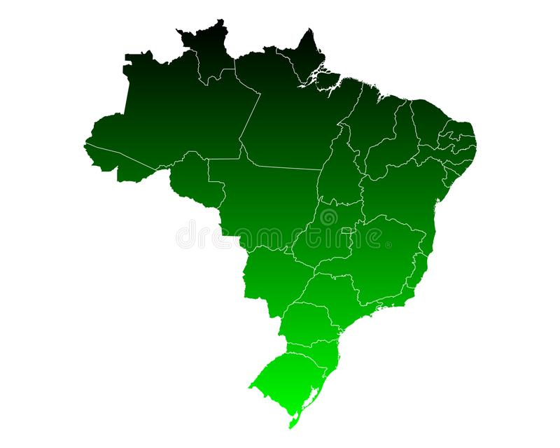 Map of Brazil royalty free illustration