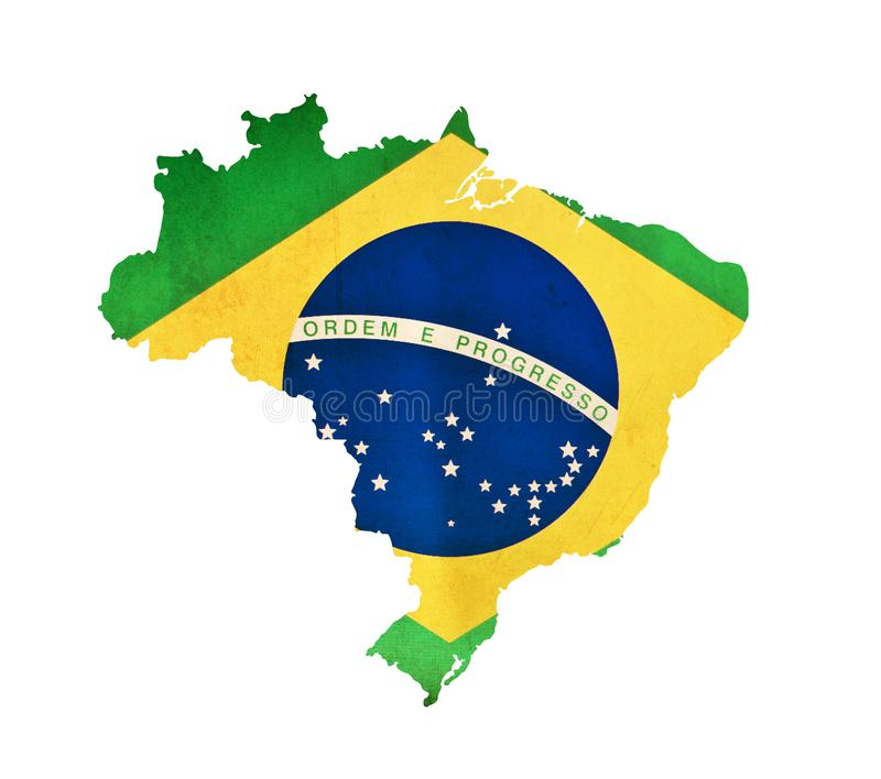 Map of Brazil isolated royalty free stock photo