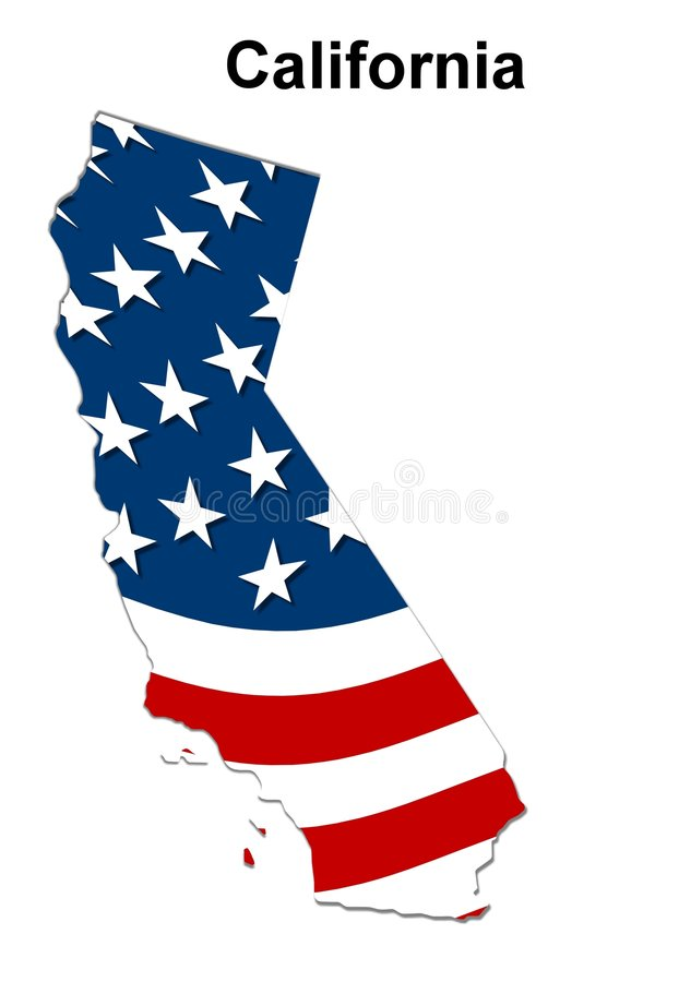 Map Of California Royalty Free Stock Images