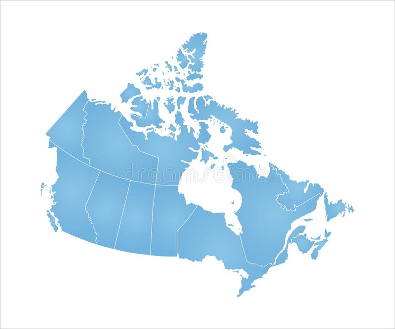 Map of Canada stock illustration