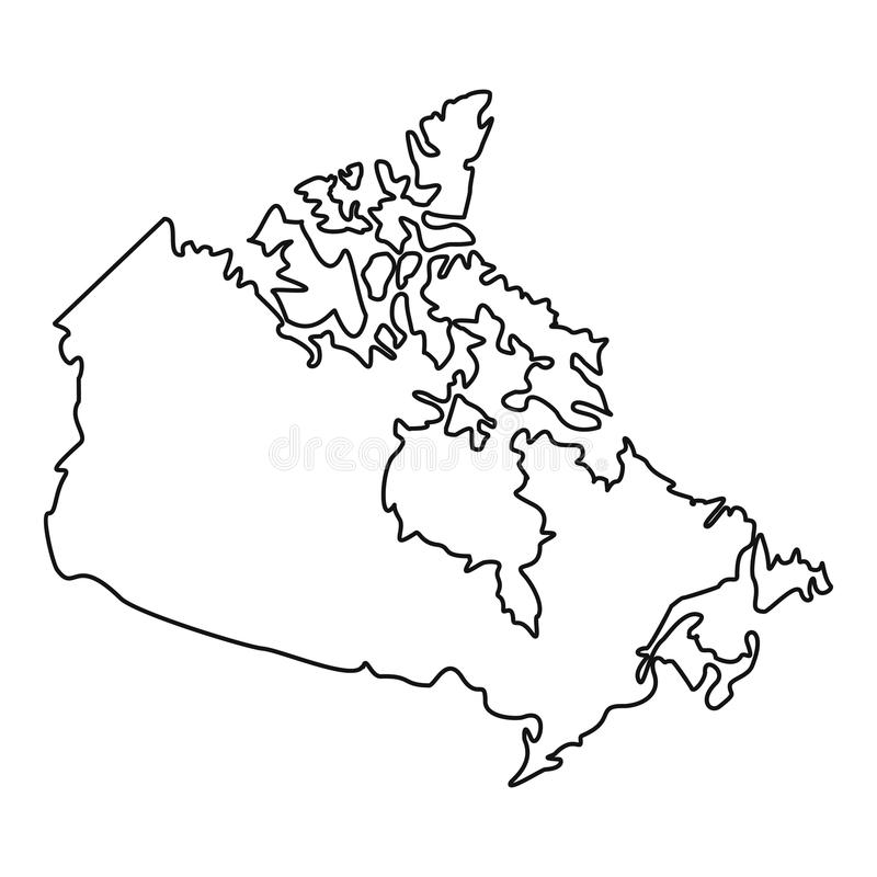 Map Of Canada Icon Outline Style Stock Vector Illustration of