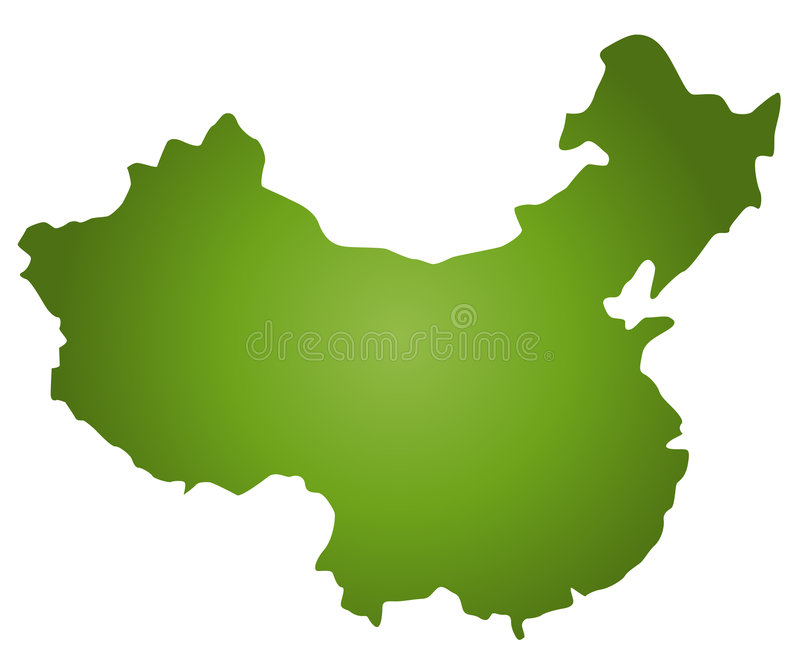 Map China. Asimple map of China