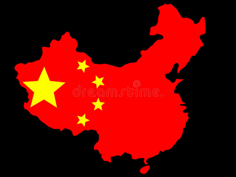Download Map of China stock vector. Image of star, symbol, illustration - 2171190