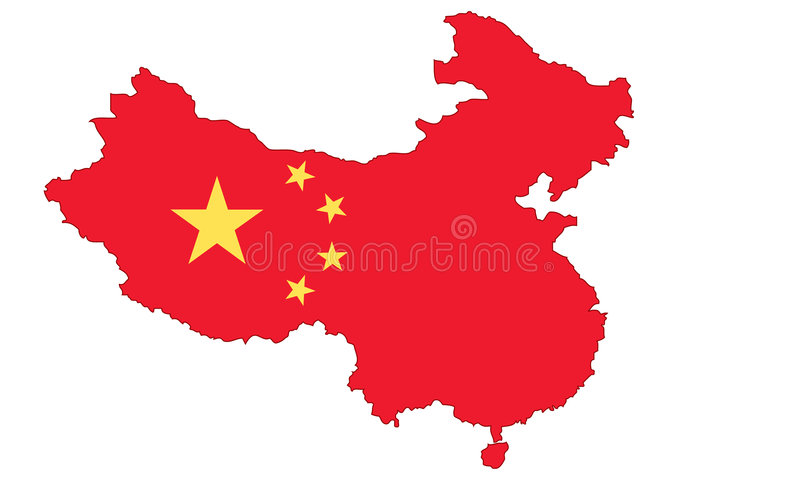 Map of China vector illustration