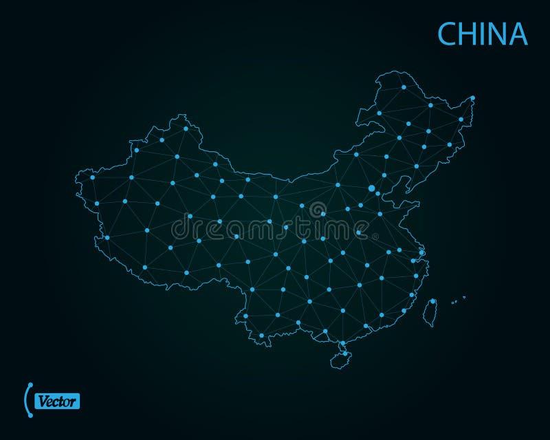 Map of China. Vector illustration. World map vector illustration