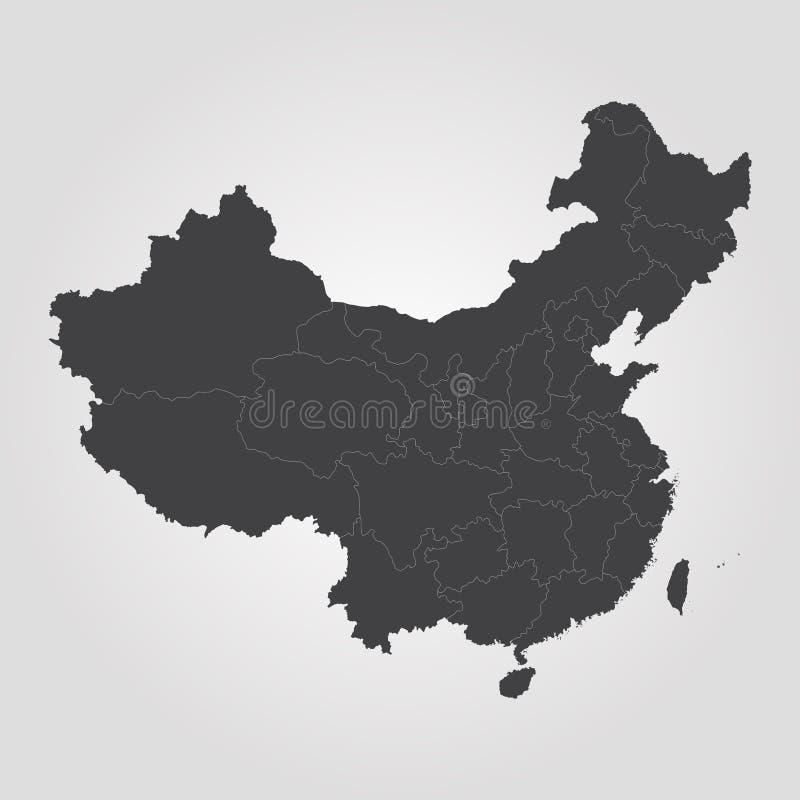 Map of China royalty free illustration
