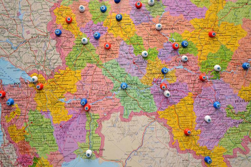 Download Map of cities of Russia stock photo. Image of geography - 22171474