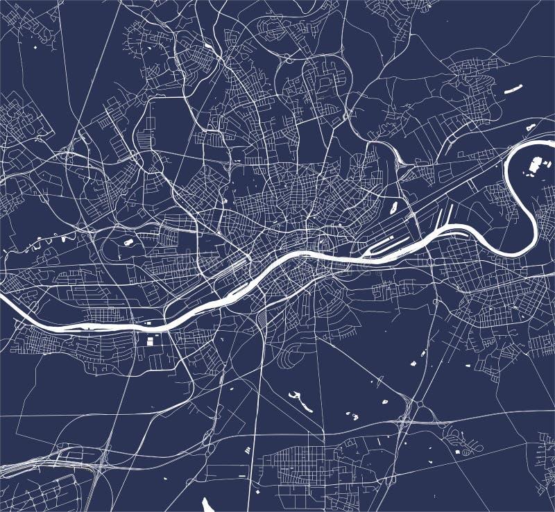 Map of the city of Frankfurt am Main, Hesse, Germany. Vector map of the city of Frankfurt am Main, Hesse, Germany vector illustration