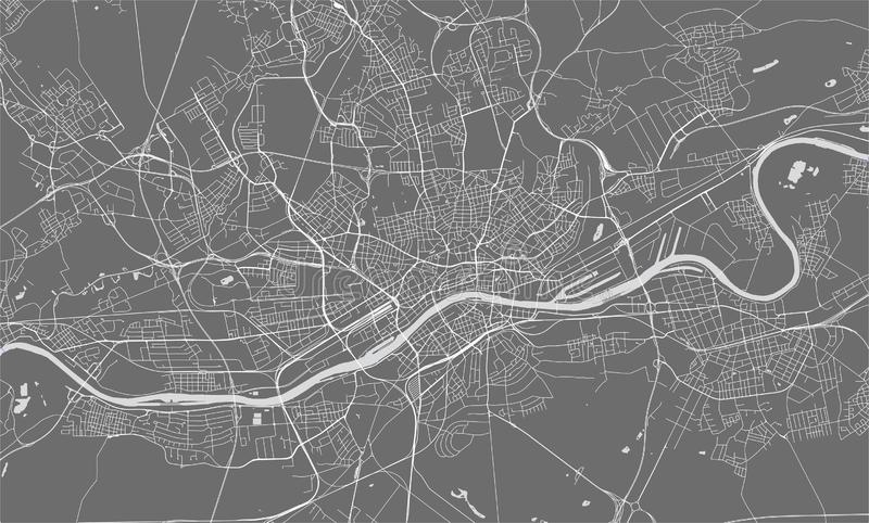 Map of the city of Frankfurt am Main, Hesse, Germany vector illustration