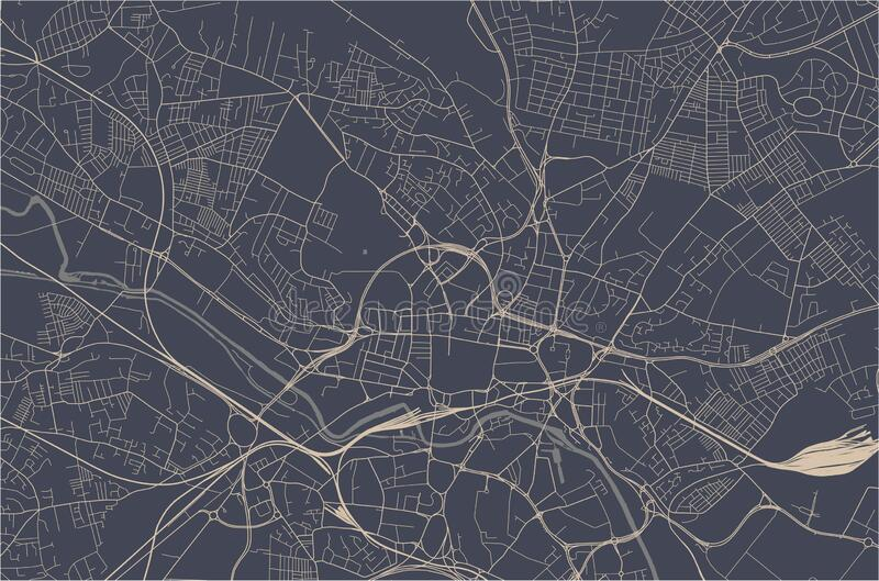 Map of the city of Leeds, West Yorkshire, Yorkshire and the Humber , England, UK. Vector map of the city of Leeds, West Yorkshire, Yorkshire and the Humber royalty free illustration