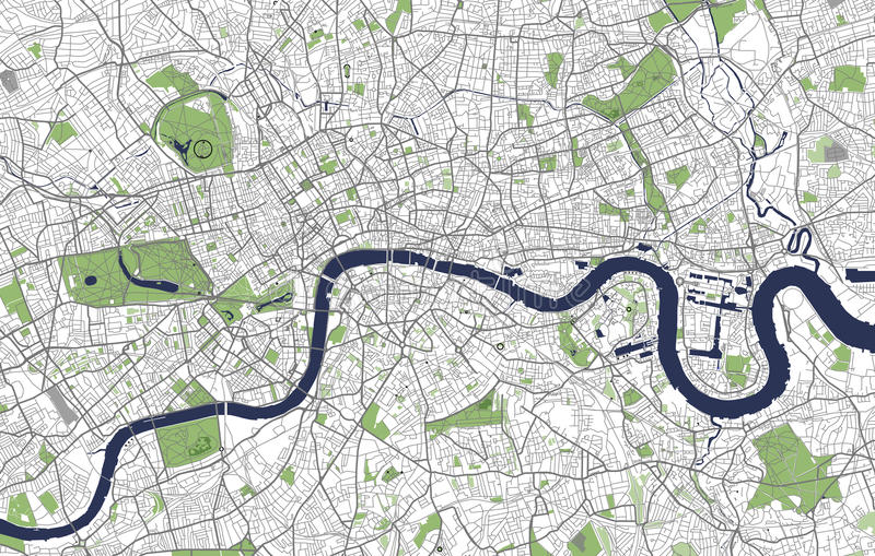 download map of the city of london great britain stock illustration illustration of monochrome
