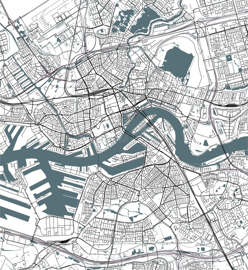 Map of the city of rotterdam in south holland netherlands stock download map of the city of rotterdam in south holland netherlands stock illustration gumiabroncs Gallery